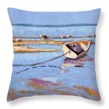 Low Tide Flats II Throw Pillow by Trina Teele