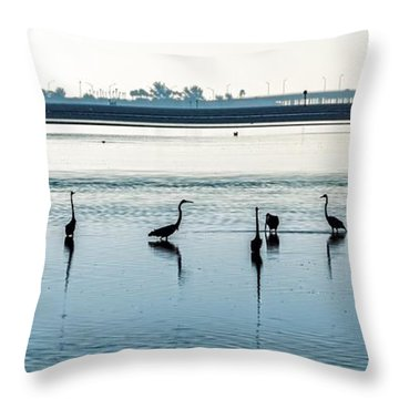 Low Tide Gathering Throw Pillow by Steven Sparks