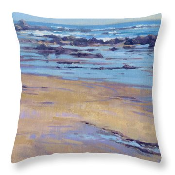 Low Tide / Crystal Cove Throw Pillow