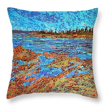 Low Tide Oak Bay Nb Throw Pillow