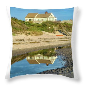 Low Tide Reflection Throw Pillow