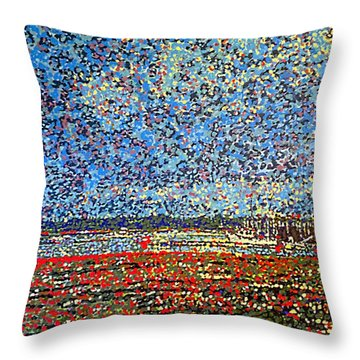 Low Tide - St. Andrews Wharf Throw Pillow