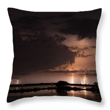 Low Tide With High Energy Throw Pillow