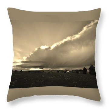 Low-topped Supercell Black And White  Throw Pillow