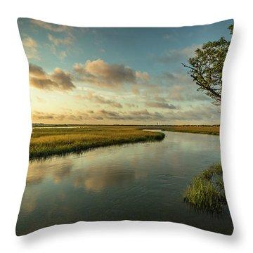 Pitt Street Bridge Creek Sunrise Throw Pillow