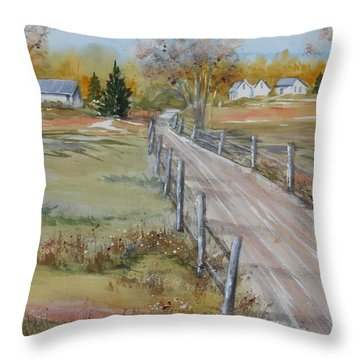 Lowcountry Road In Spring Throw Pillow