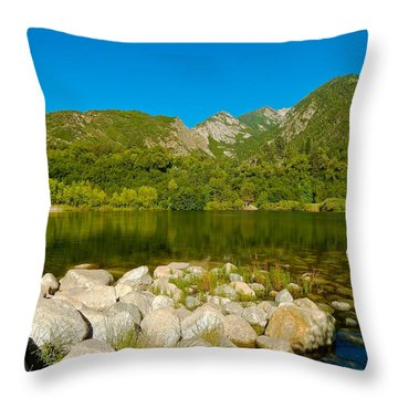 Lower Bells Canyon Reservoir Throw Pillow