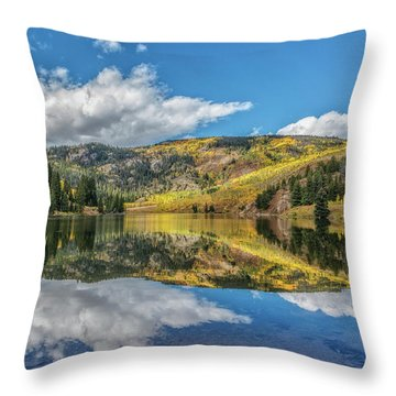 Lower Cataract Lake Aspen Throw Pillow