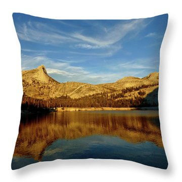 Lower Cathedral Lake Late Afternoon Throw Pillow