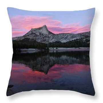 Lower Cathedral Lake Sunset Throw Pillow
