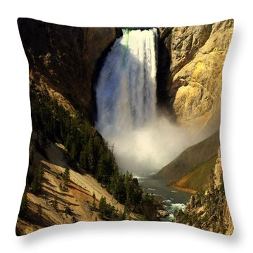 Lower Falls 2 Throw Pillow by Marty Koch