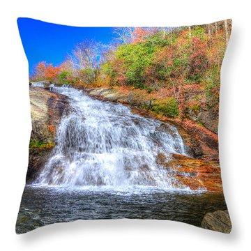 Lower Falls At Graveyard Fields Throw Pillow