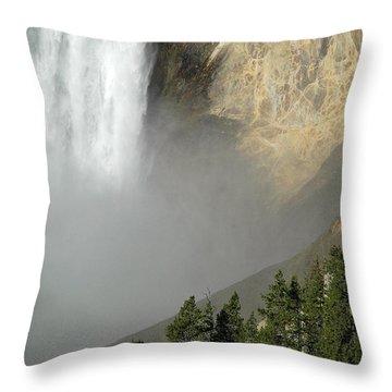 Lower Falls Closeup Throw Pillow