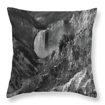Lower Falls Throw Pillow by Sheila Ping