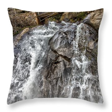 Lower Helen Hunt Falls Throw Pillow