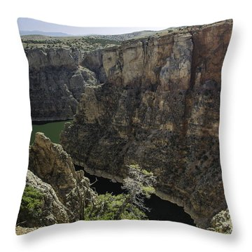 Lower Layout Creek, Bighorn Canyon Throw Pillow