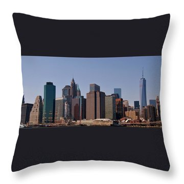 Lower Manhattan Nyc #2 Throw Pillow