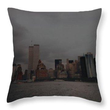 Lower Manhattan Throw Pillow by Rob Hans