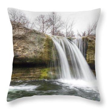 Lower Mckinney Falls Throw Pillow