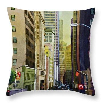 Lower Pine Street Throw Pillow
