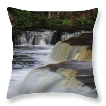 Lower Tahquamenon Summer Throw Pillow