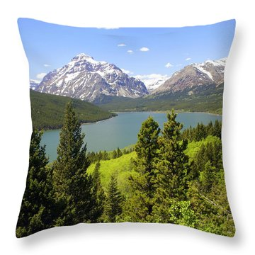 Lower Two Medicine Lake Throw Pillow by Marty Koch