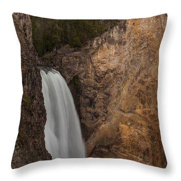 Lower Yellowstone Waterall Throw Pillow