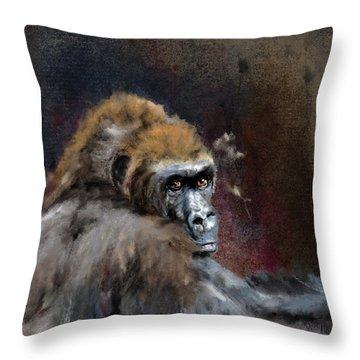 Lowland Gorilla Throw Pillow