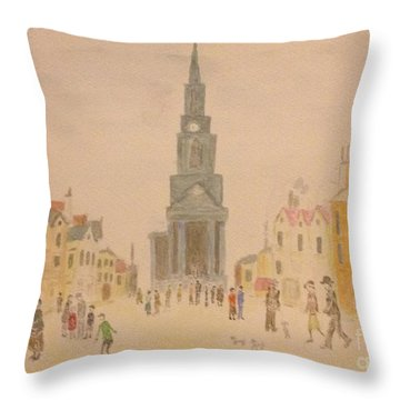 Lowry And Shadow Of Japan Throw Pillow by Sawako Utsumi