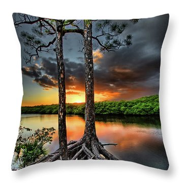 Loxachatchee Sunset Throw Pillow