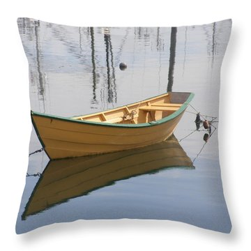 Lttle Row Boat Throw Pillow by Frederic Durville