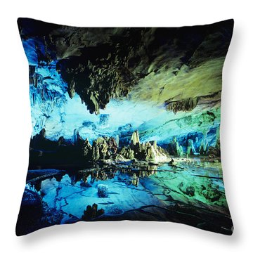 Lu Di Cave Throw Pillow by Rita Ariyoshi - Printscapes