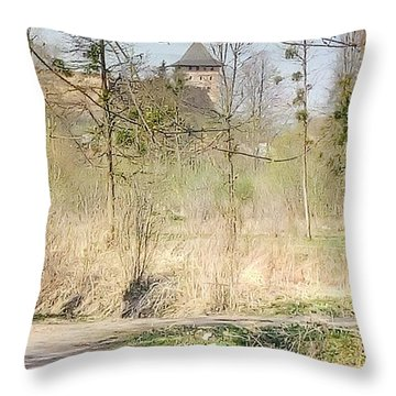 Lubart Castle Throw Pillow