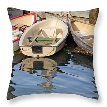 Lubec Dories Throw Pillow