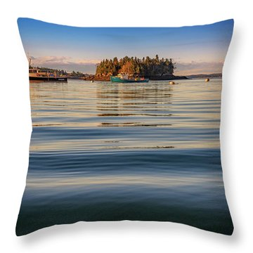 Throw Pillow featuring the photograph Lubec Harbor by Rick Berk
