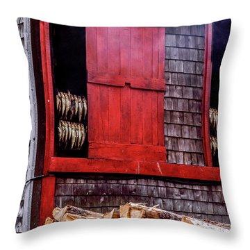 Lubec Smokehouse Throw Pillow