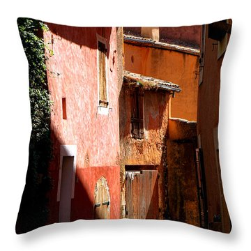 Throw Pillow featuring the photograph Luberon Village Street by Olivier Le Queinec