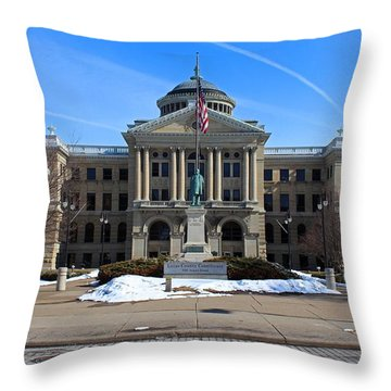 Throw Pillow featuring the photograph Lucas County Courthouse I by Michiale Schneider