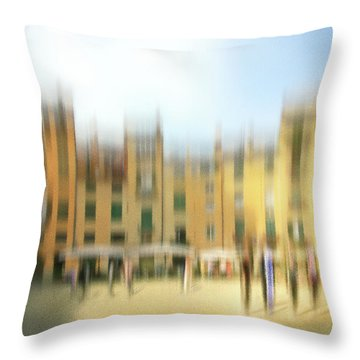 Lucca Ampitheatre Impression 1 Throw Pillow by Marty Garland