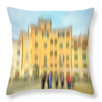 Lucca Ampitheatre Impression 2 Throw Pillow by Marty Garland