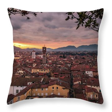 Lucca In Tuscany Throw Pillow
