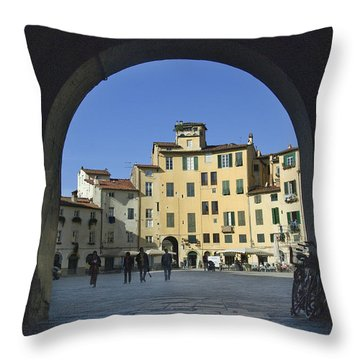 Lucca Piazza Throw Pillow