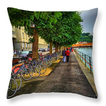Lucern Stroll Throw Pillow
