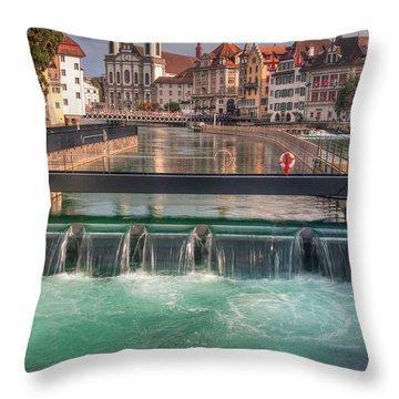 Lucerne Throw Pillow by Caroline Pirskanen