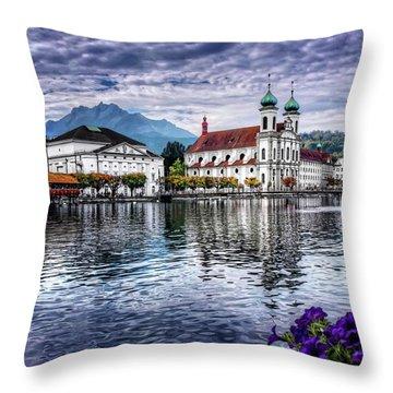 Lucerne In Switzerland  Throw Pillow