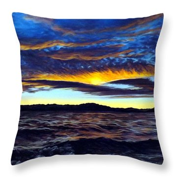 Lucerne Sunset Throw Pillow