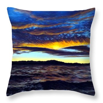 Lucerne Sunset Throw Pillow