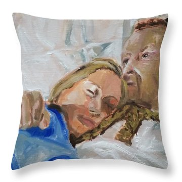 Lucian And Kate I Throw Pillow by Bachmors Artist