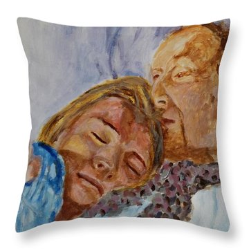 Lucian And Kate IIi Throw Pillow by Bachmors Artist