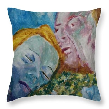 Lucian And Kate Iv Throw Pillow by Bachmors Artist